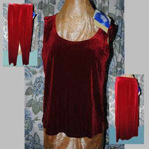 SUSAN GRAVER STYLE NWT 3-pc Stretch Velvet Set - M
